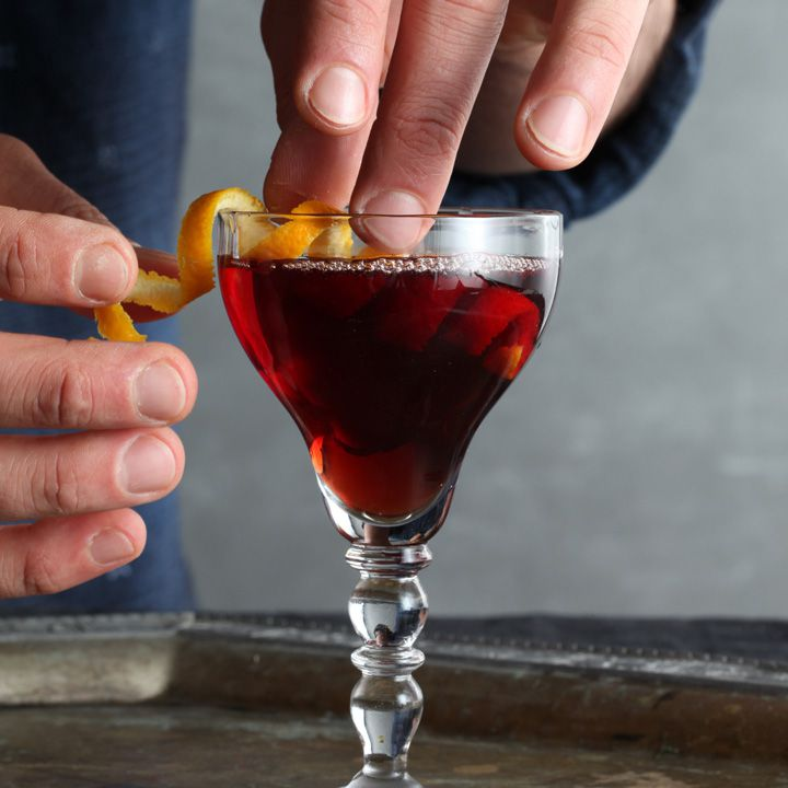 Bossa Manhattan cocktail