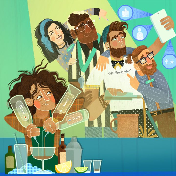 Bartending competitions illustration