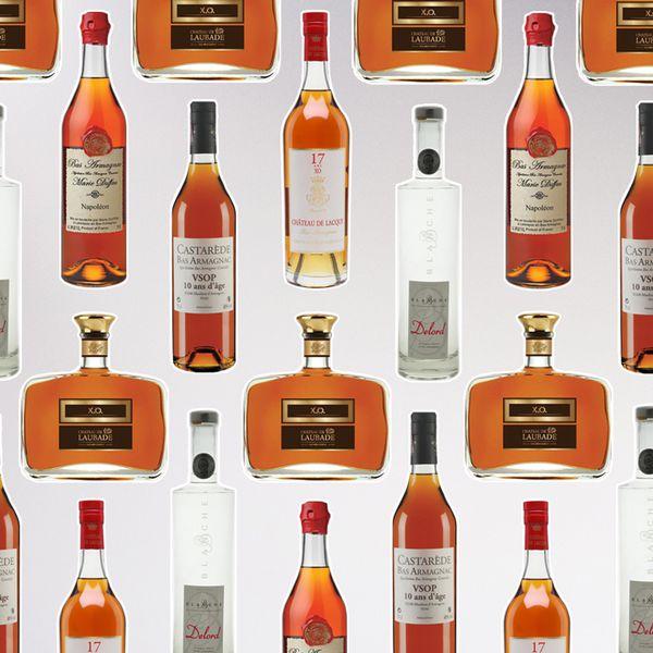 Armagnac bottles