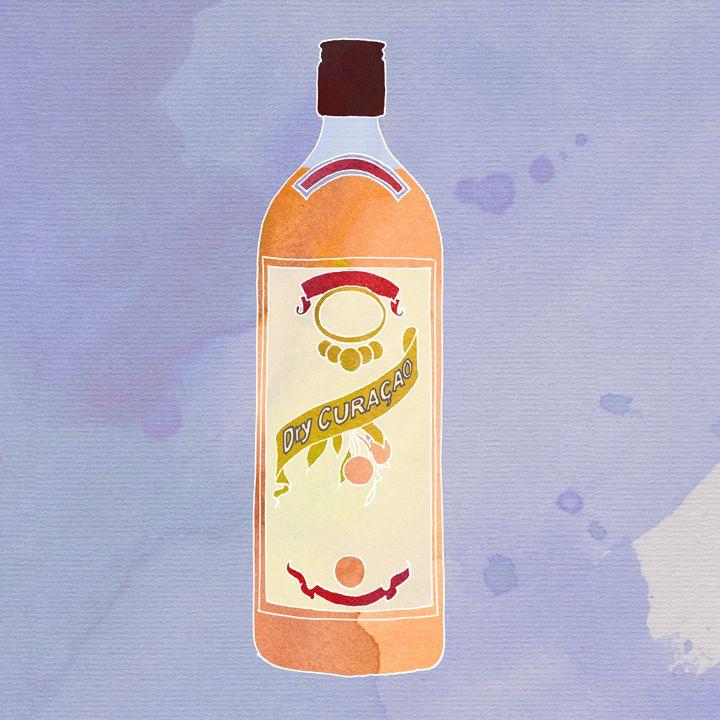 Curacao bottle