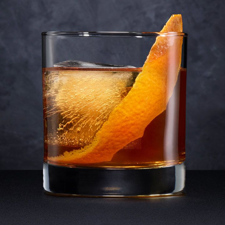 black barrel old fashioned cocktail