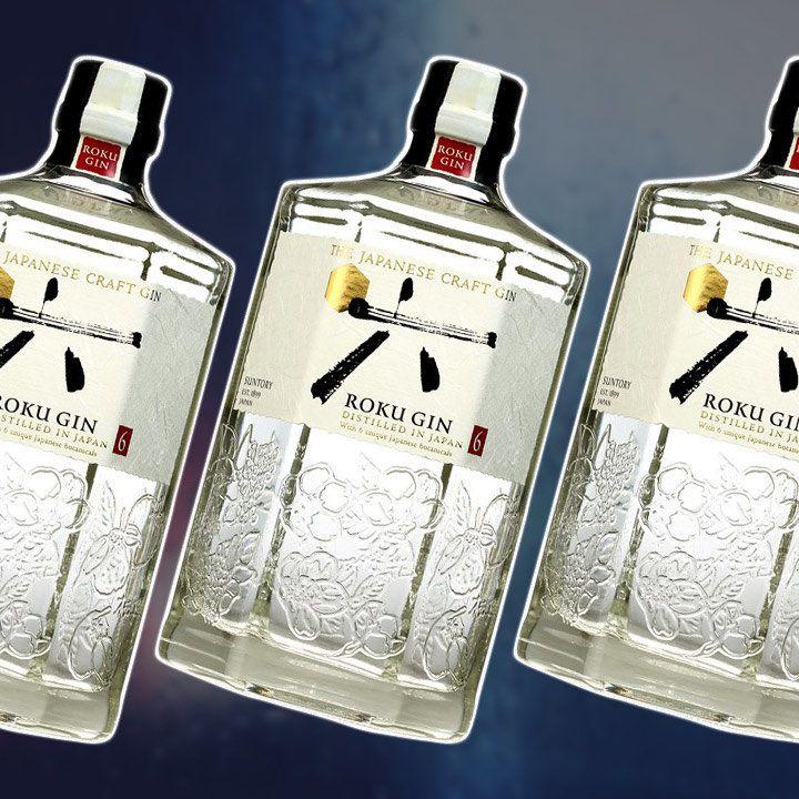 Suntory Roku Gin bottles