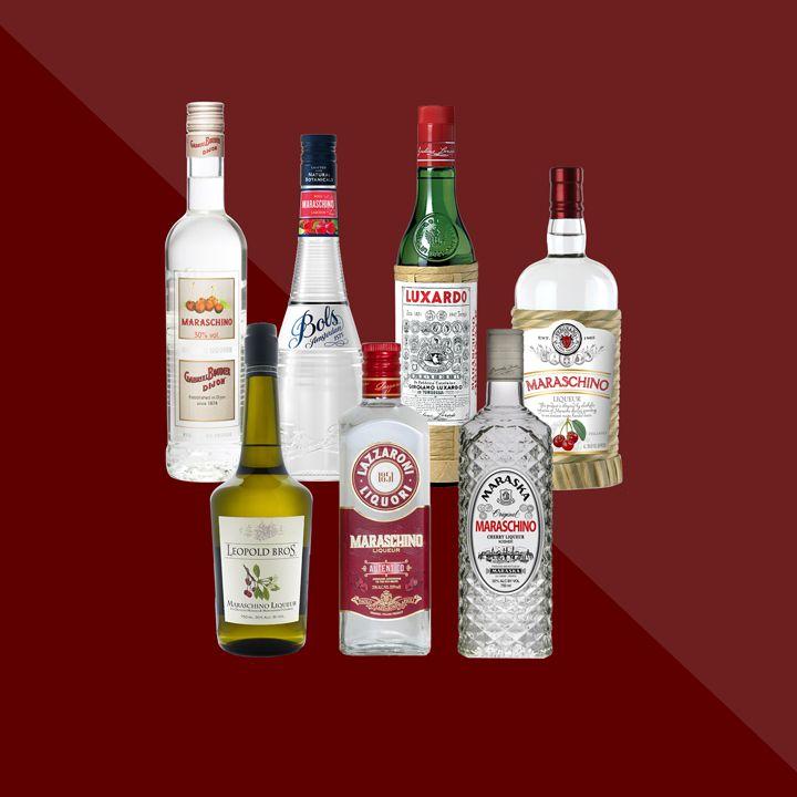 Maraschino liqueur bottles