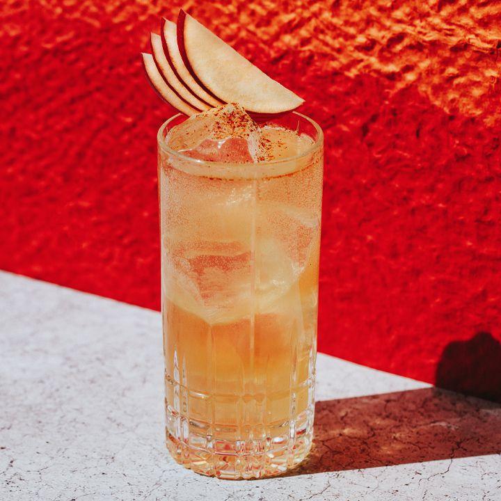 Spiced Apple Fizz cocktail