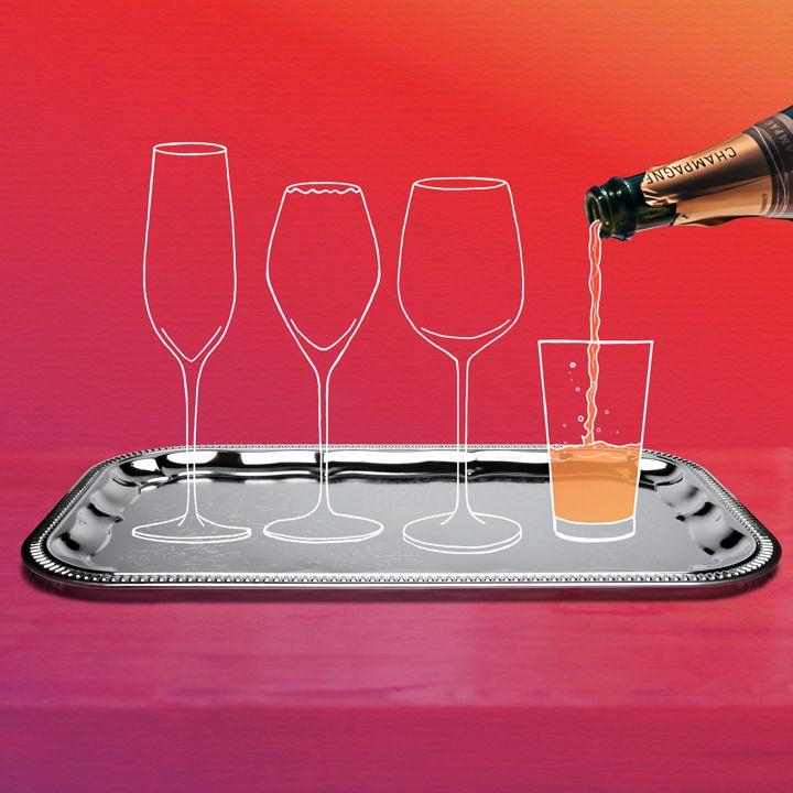 Champagne glass illustration
