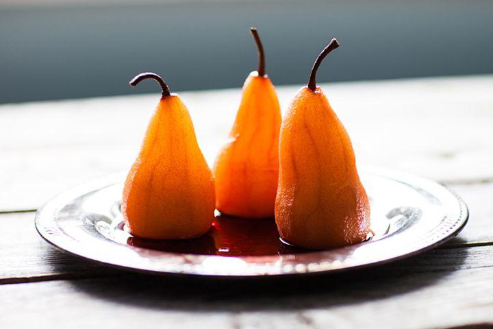 negroni poached pears recipe