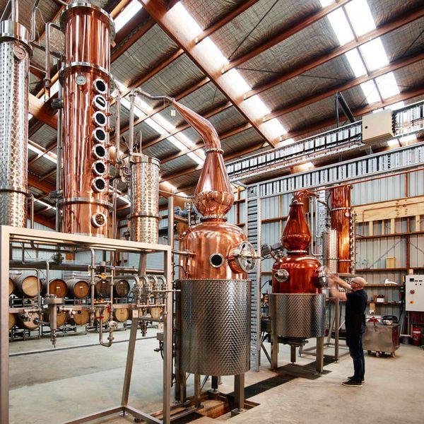 The stills at Four Pillars Distillery in Australia