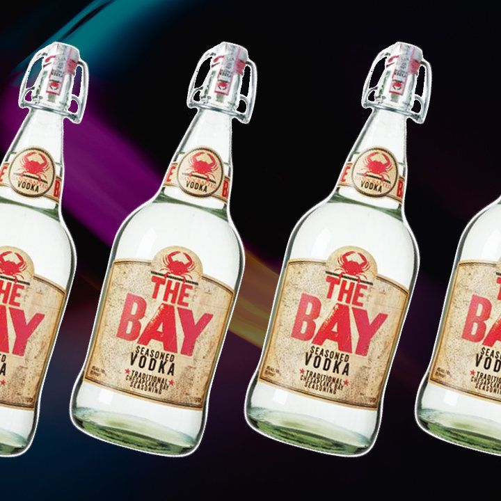 The Bay Seasoned vodka bottle