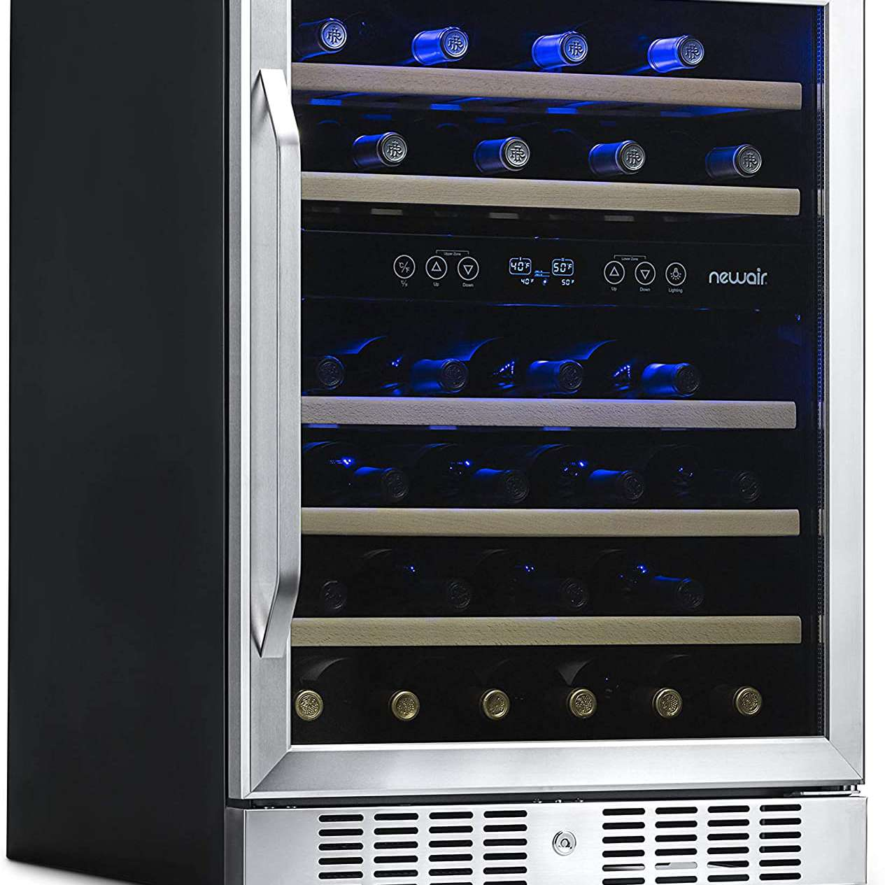 NewAir Built-in Wine Cooler and Dual Zone 46-Bottle Refrigerator AWR-460DB