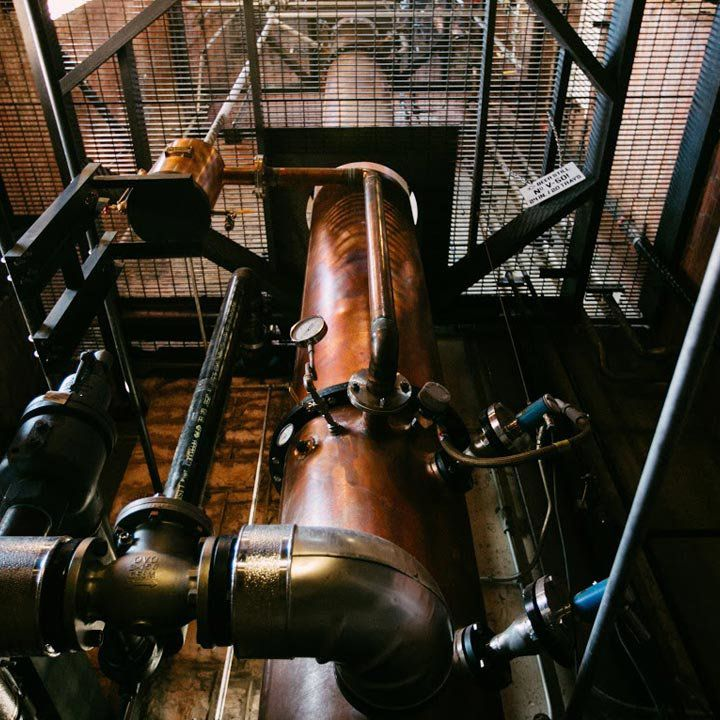 A still at Castle & Key Distillery.