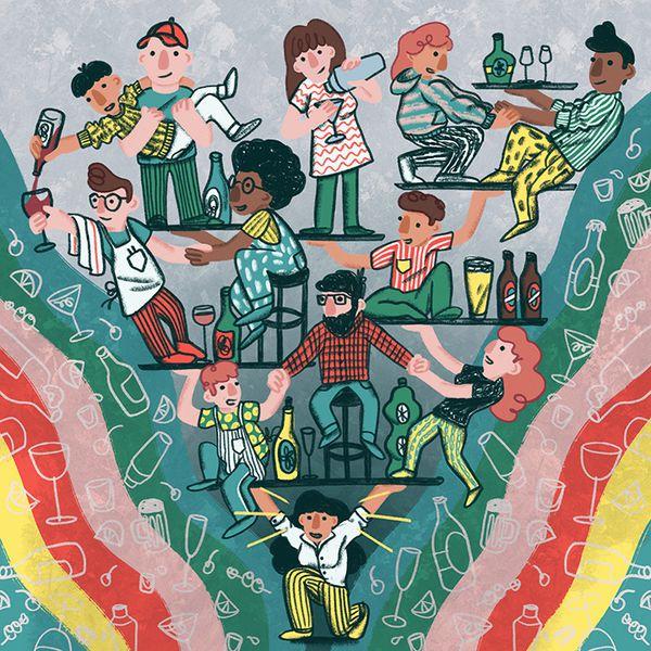 illustration of bartenders
