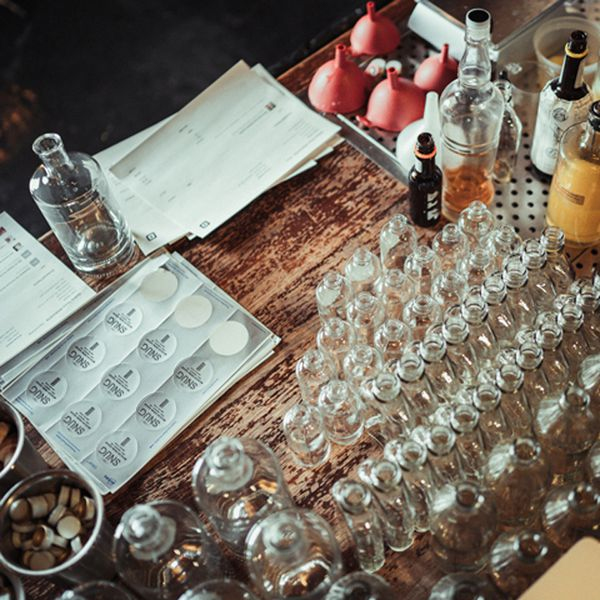 To-go cocktail prep at The Snug in Sacramento.