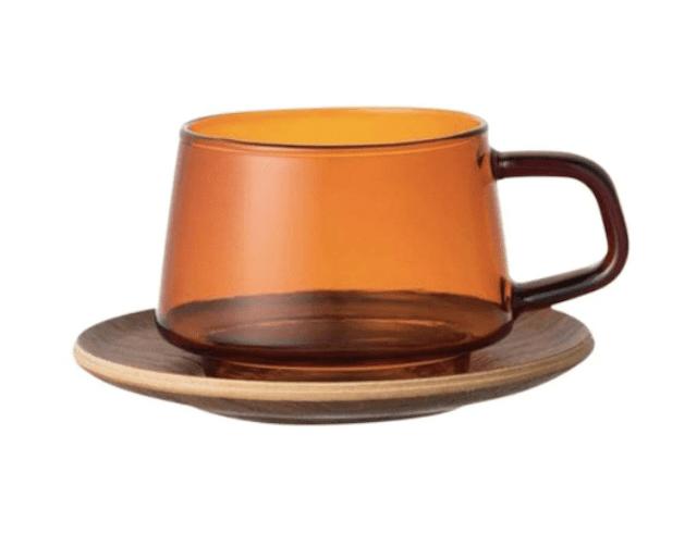 KINTO Sepia Glass Cup & Saucer