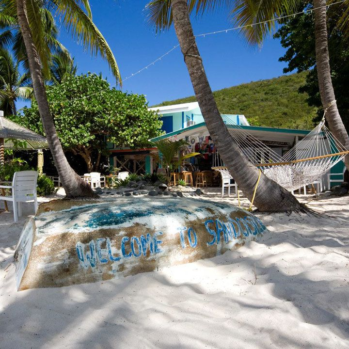 Exterior of the Soggy Dollar Bar in the British Virgin Islands
