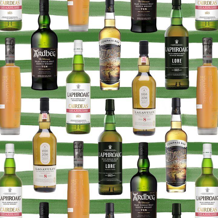 Peaty Scotch bottles