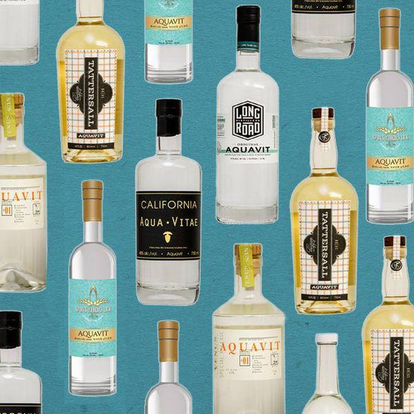 Aquavit bottles