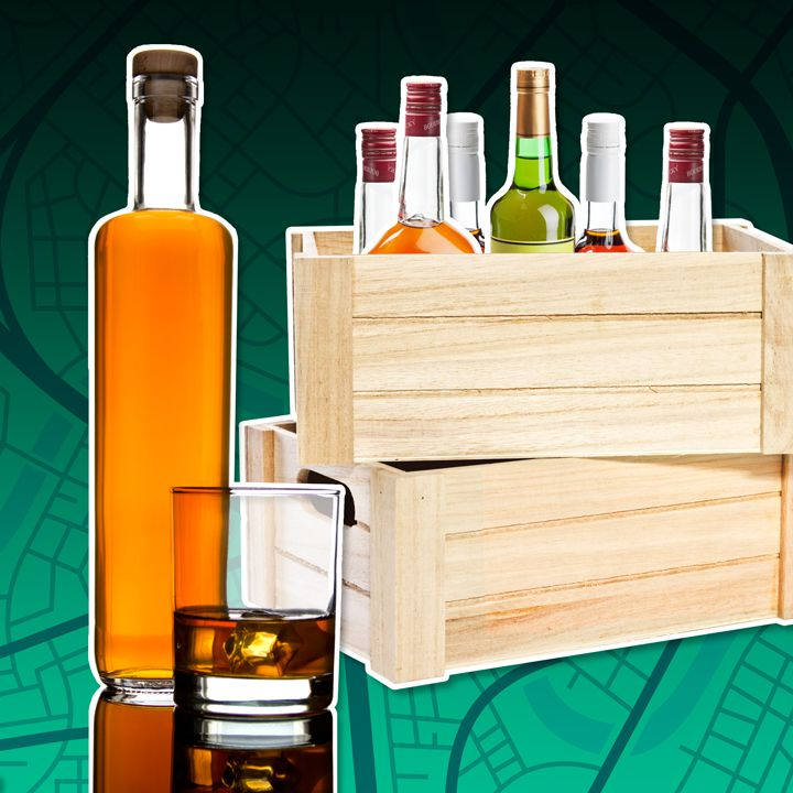Liquor bottle illustration