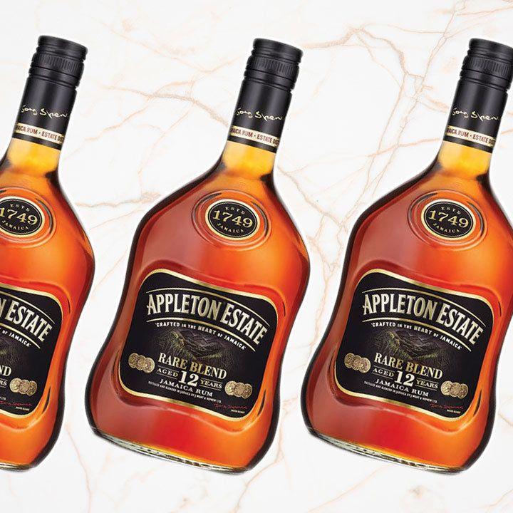 Appleton Estate Rare Blend 12 Year Old Rum bottles