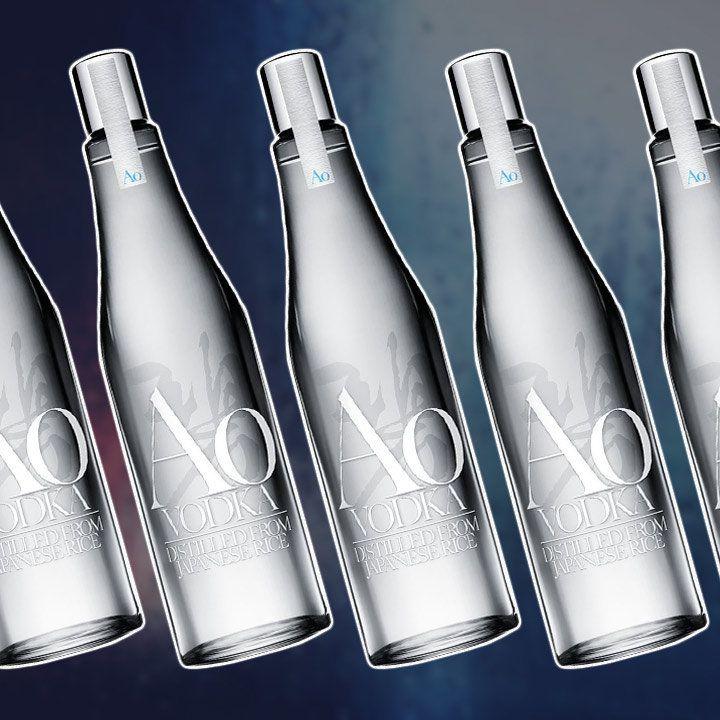 Suntory Ao Vodka bottles