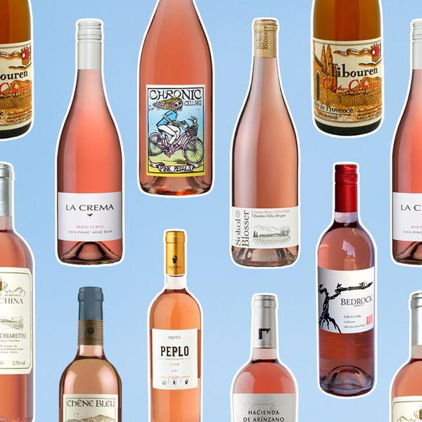 Rose wine bottles
