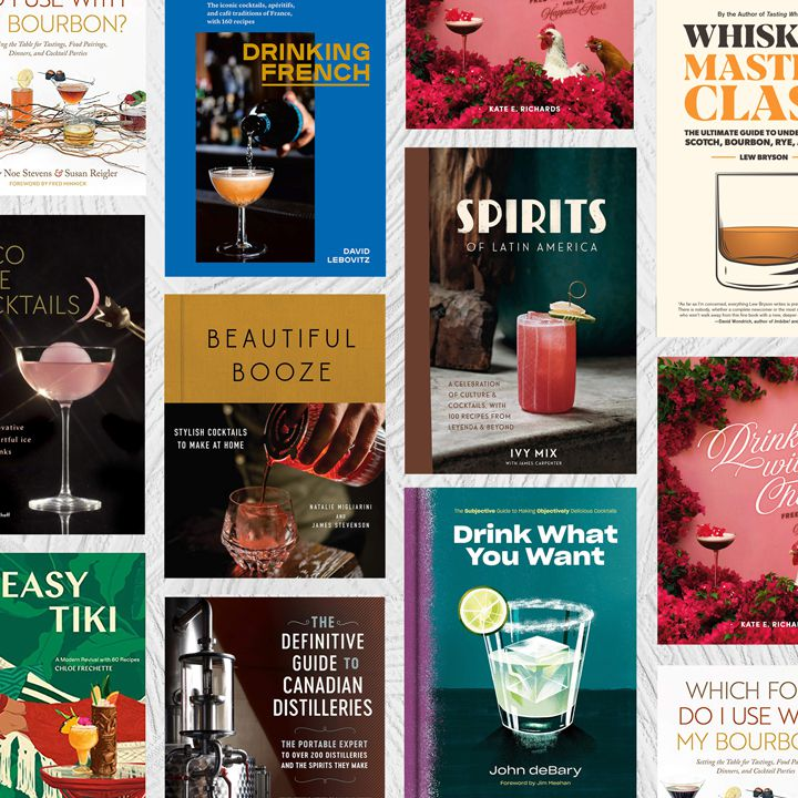 Composite image of spring cocktail books