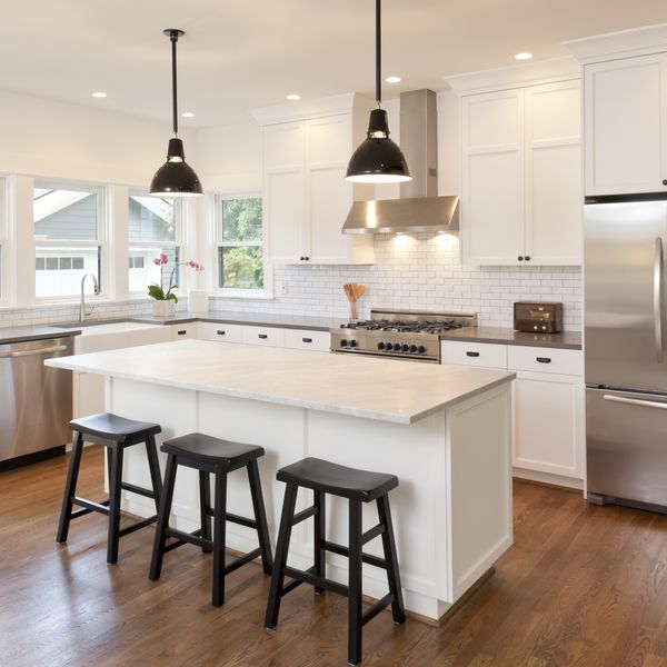 bar stools in home kitchen