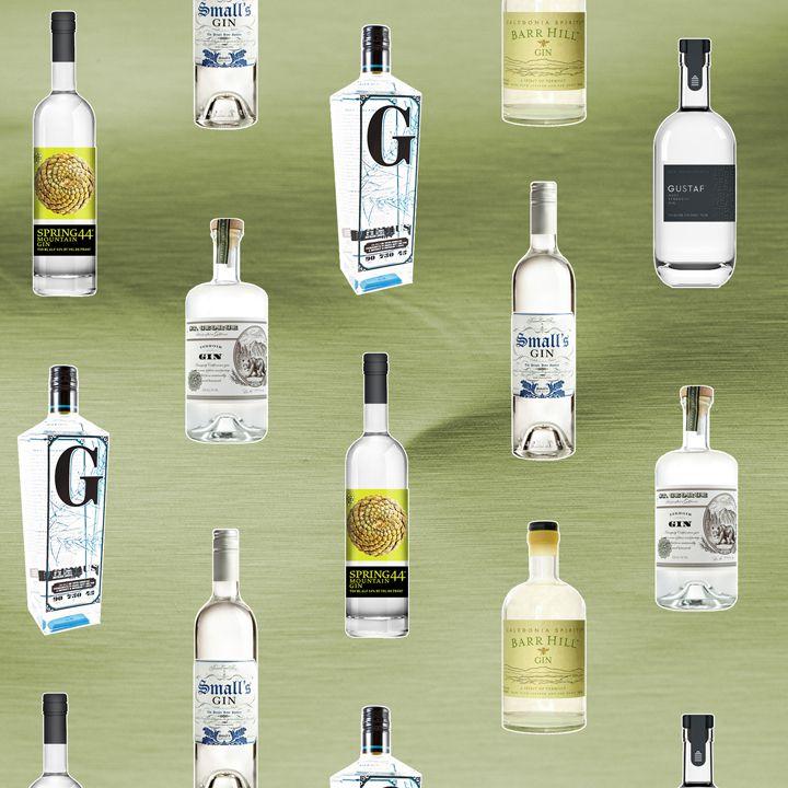 American gin bottles