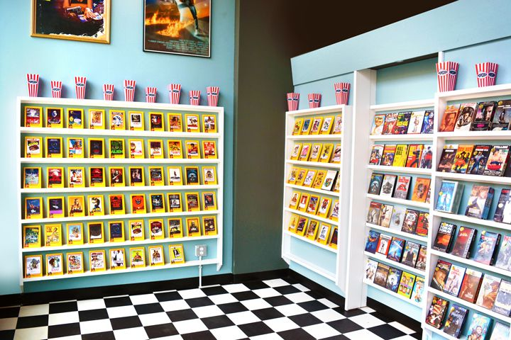 Faux video store entrance at Gorilla Cinema's Video Archive