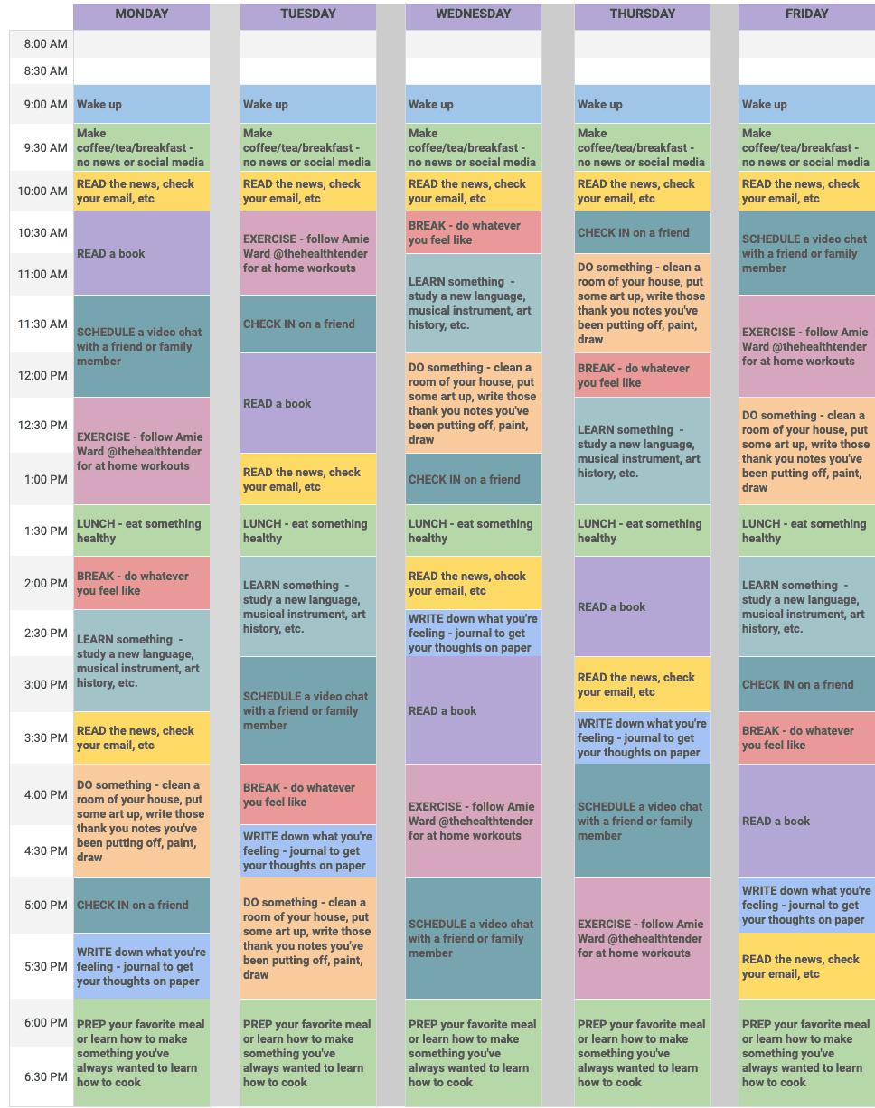 bartender schedule