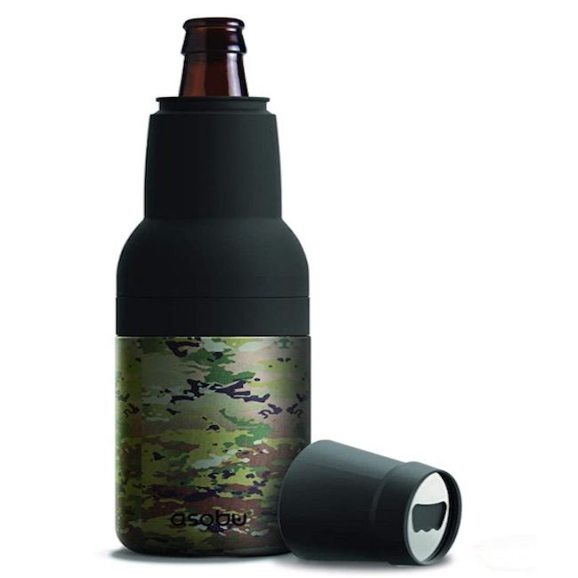 Asobu Frosty Beer 2 Go Vacuum Insulated Double Walled Stainless Steel Beer Bottle and Can Cooler with Beer Opener