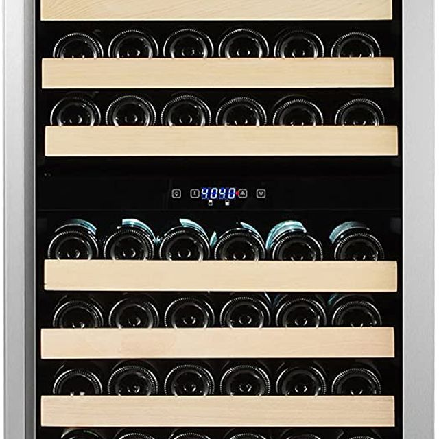 Whynter BWR-1642DZ 164 Built-in / Freestanding Dual Zone Large Capacity Wine Refrigerator Rack