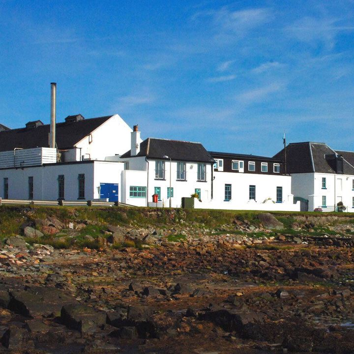 Bruichladdich Distillery with the island's signature whitewashed buildings