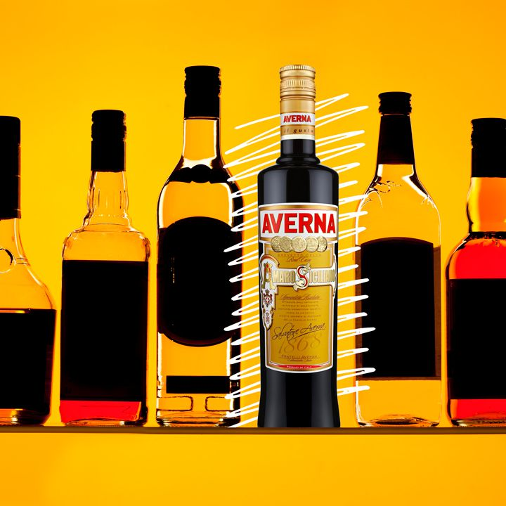 Averna bottle illustration