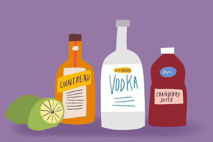 Cosmopolitan ingredients illustration