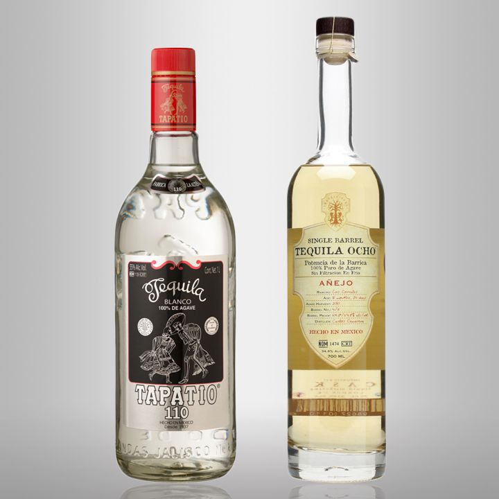 tapatio blanco and tequila ocho anejo