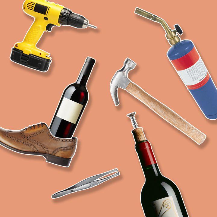 Ways to open a wine bottle