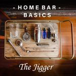 Home Bar Basics cover featuring an aerial view of a bar cart with various tools and supplies laid out