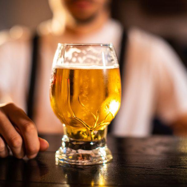 beer on bar