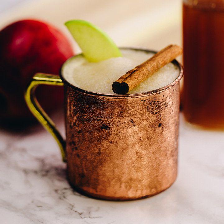 bourbon cider slushie cocktail
