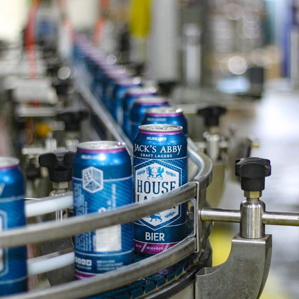 Jack's Abby in Framingham, Massachusetts, has been running its canning line seven days a week for extended shifts during the COVID-19 pandemic.