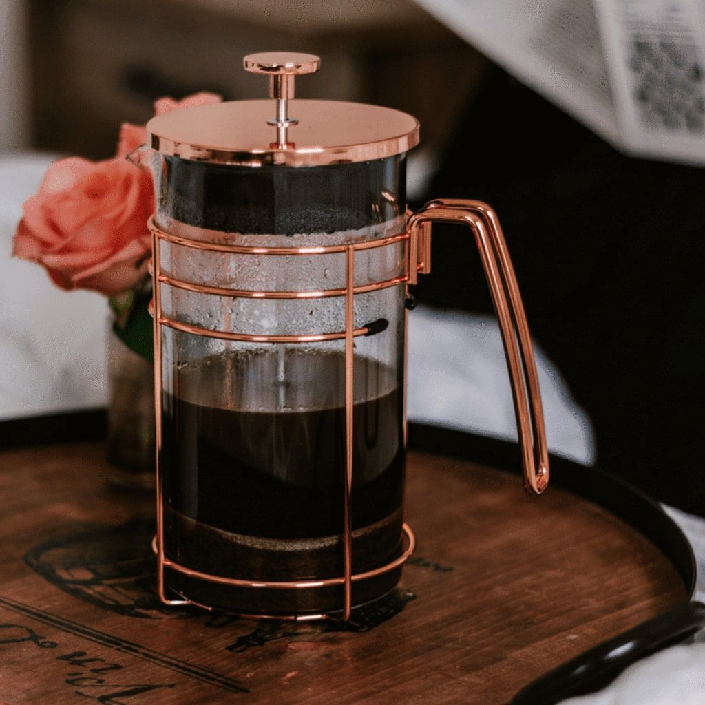 Honey and Roses Rose Gold French Press