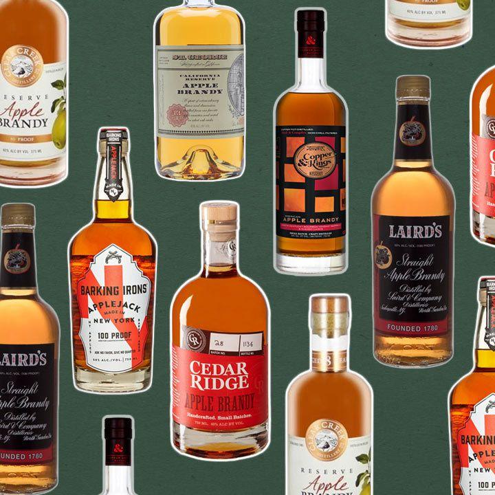 American Apple Brandy bottles