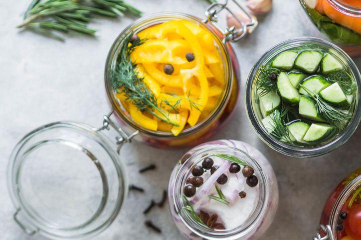 Jars of fruit