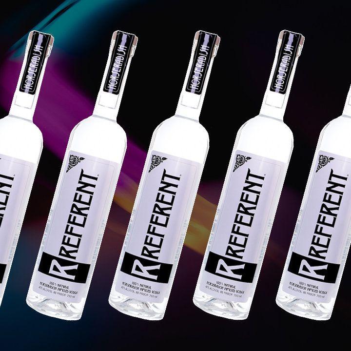 Referent Horseradish vodka bottle