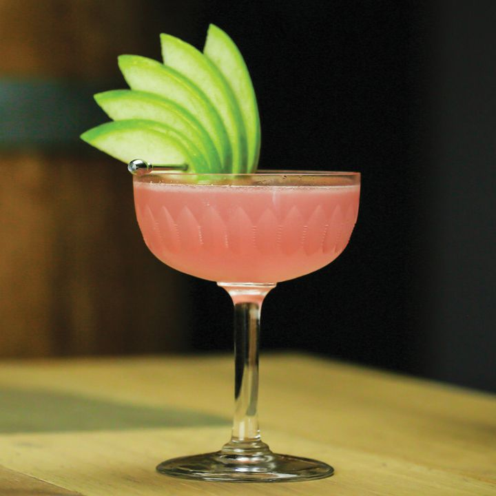 rosemary & rhubarb cocktail