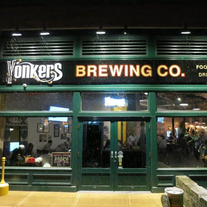 Entrance to Yonkers Brewing Co. in New York