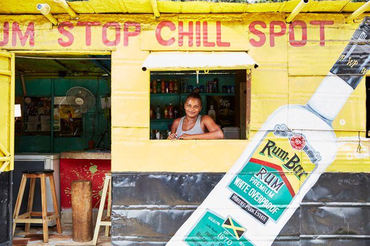 Worthy Park bar in Jamaica