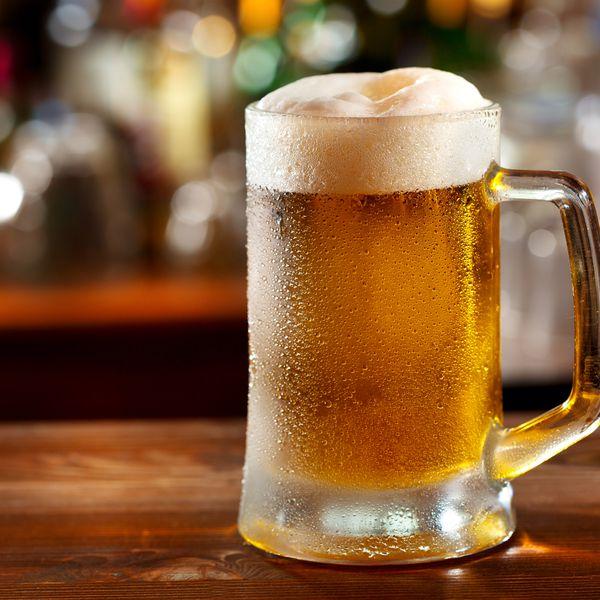 A cold mug of beer.