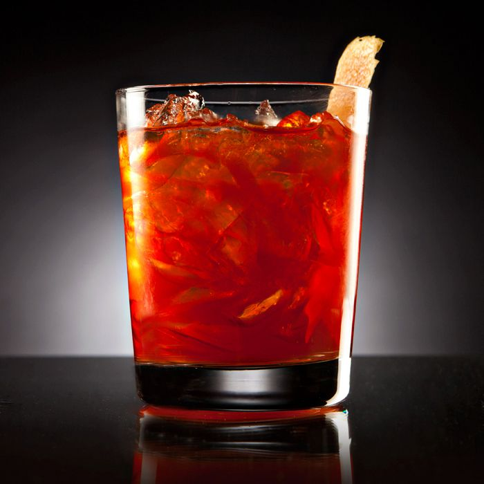 Grapefruit Negroni cocktail