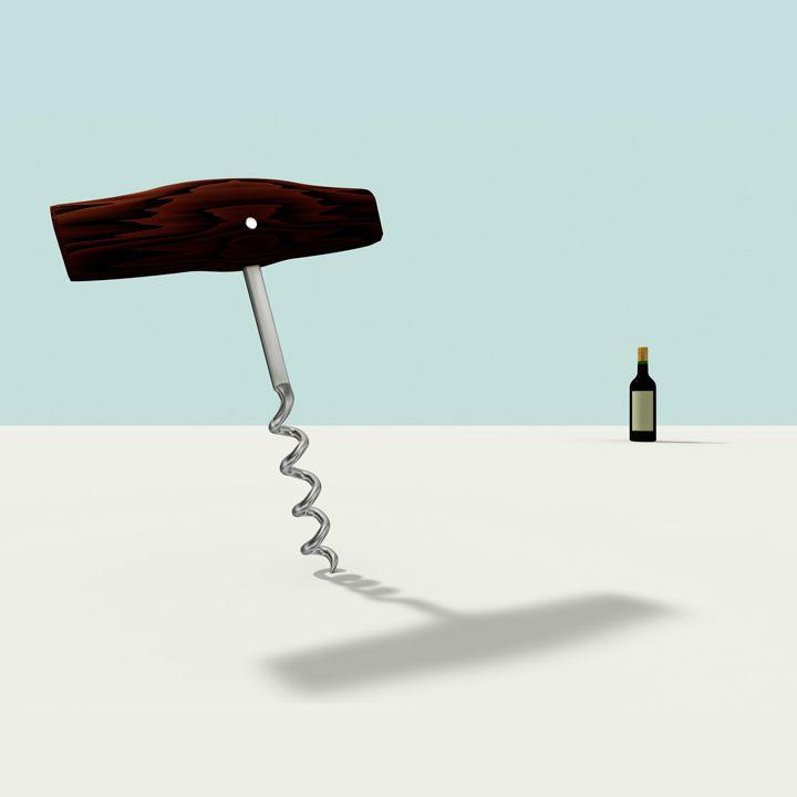 corkscrew illustration